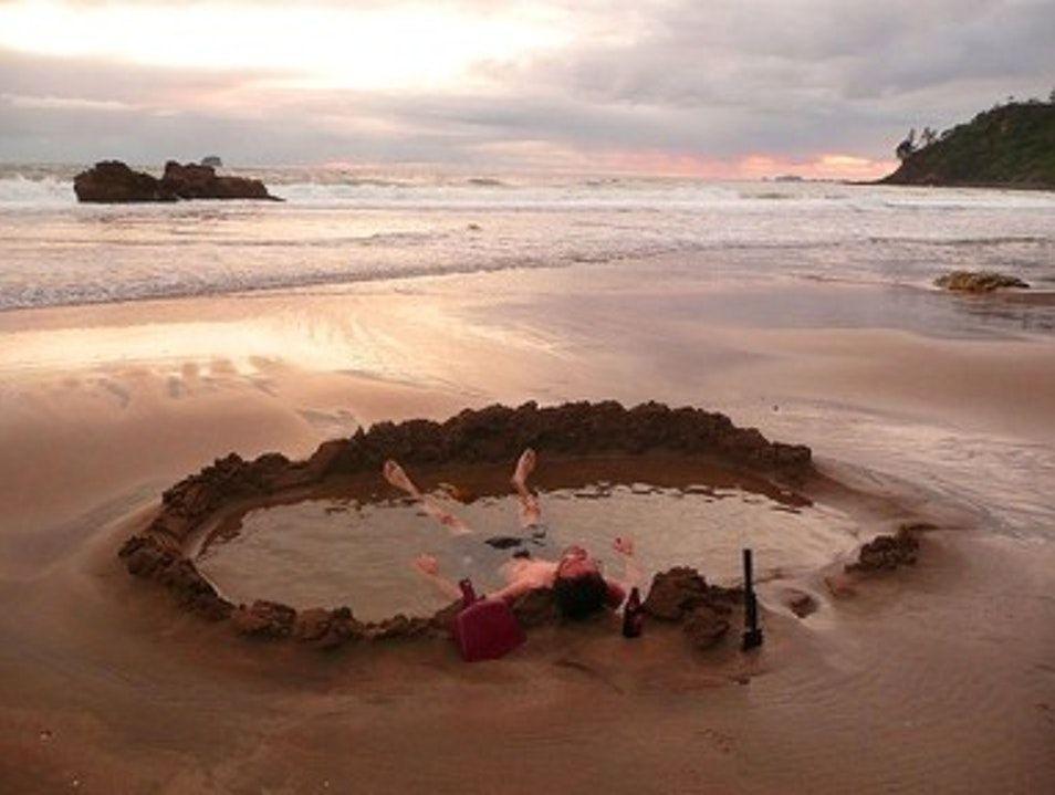 Hot Water Beach in Coromandel - New Zealand
