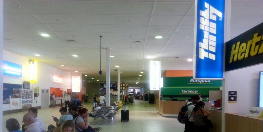 Gold Coast Airport car rental booths